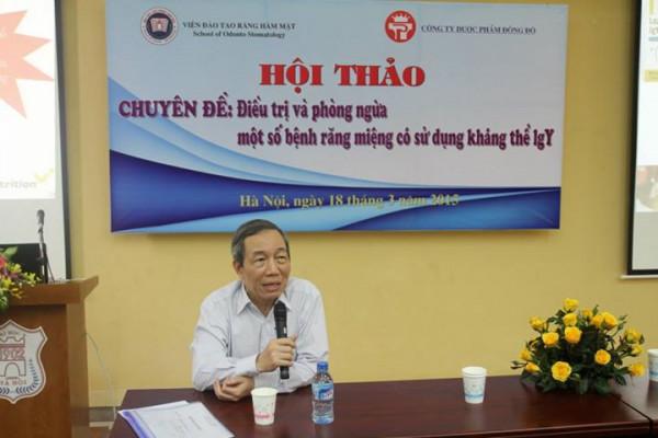 PGS.TS Phạm Đăng Khoa Phát biểu