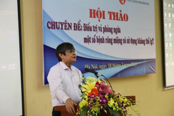 PGS.TS. Trương Mạnh Dũng trình bày lý do tổ chức buổi hội thảo
